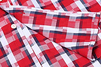 COOFANDY Men's Slim Fit Casual Plaid Button Down Long Sleeve Shirt