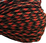 550 Paracord / Parachute Cord, 100 Metters(328 feet), 800 lb Tensile Strength, Type III Paracord, 7 100% Nylon Core Strands Each Twisted from 3 Individual Strands, 5/32''(4mm) Diameter Red Dawn