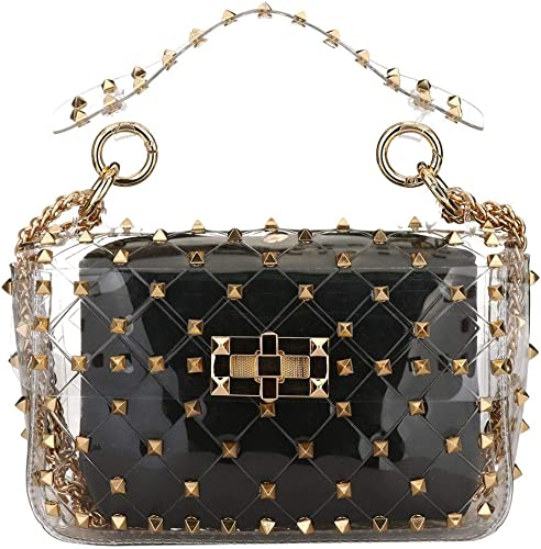 Womens Twist Metal Lock Closure Evening Prom Party Clutch Handbag Shoulder Bag