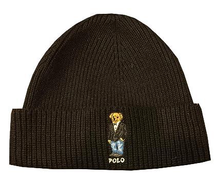 Polo Ralph Lauren Mens Teddy Bear Winter Knit Hat Skull Cap (One Size b4a143fd9f0
