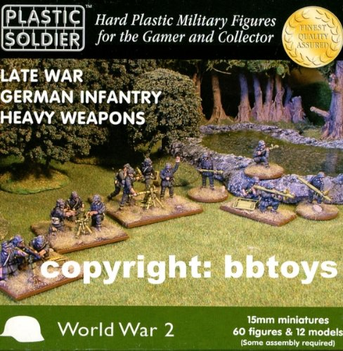 15mm WWII: German - Late War Heavy Weapons from Plastic Soldier Company