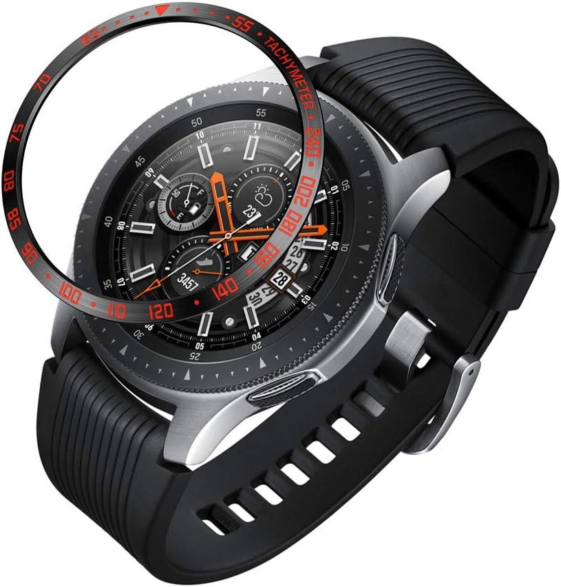 Webla - Rojo Para Samsung Galaxy Watch 46Mm Bezel Ring Adhesive Cover Anti Scratch Metal, Protector de La Cubierta Del Reloj Acero Inoxidable Rojo