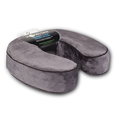Amazon.com: World's Best Cushion/Soft Memory Foam Neck Pillow ...