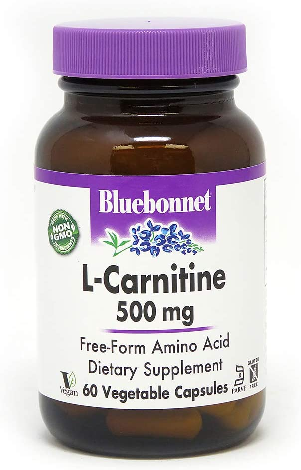 Bluebonnet L-Carnitine 500 Mg Vitamin Capsules, 60Count