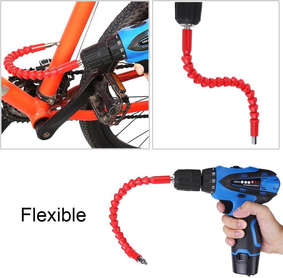Rojo 290mm 1//4 Eje Flexible de Extensi/ón Conector de Extensi/ón para Taladro Electr/ónico