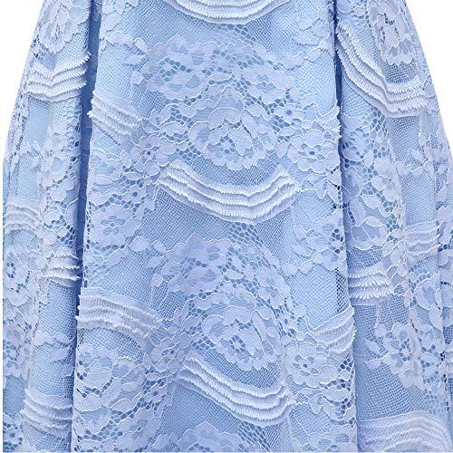 A Maniche Da Scollo Sera Con colore Al Morbido Xxl Blue Blue Pizzo Water Abiti In Lunghe Comodo Donna V Casual Abito Tatto Vintage Dimensione Indossare zxFqfY