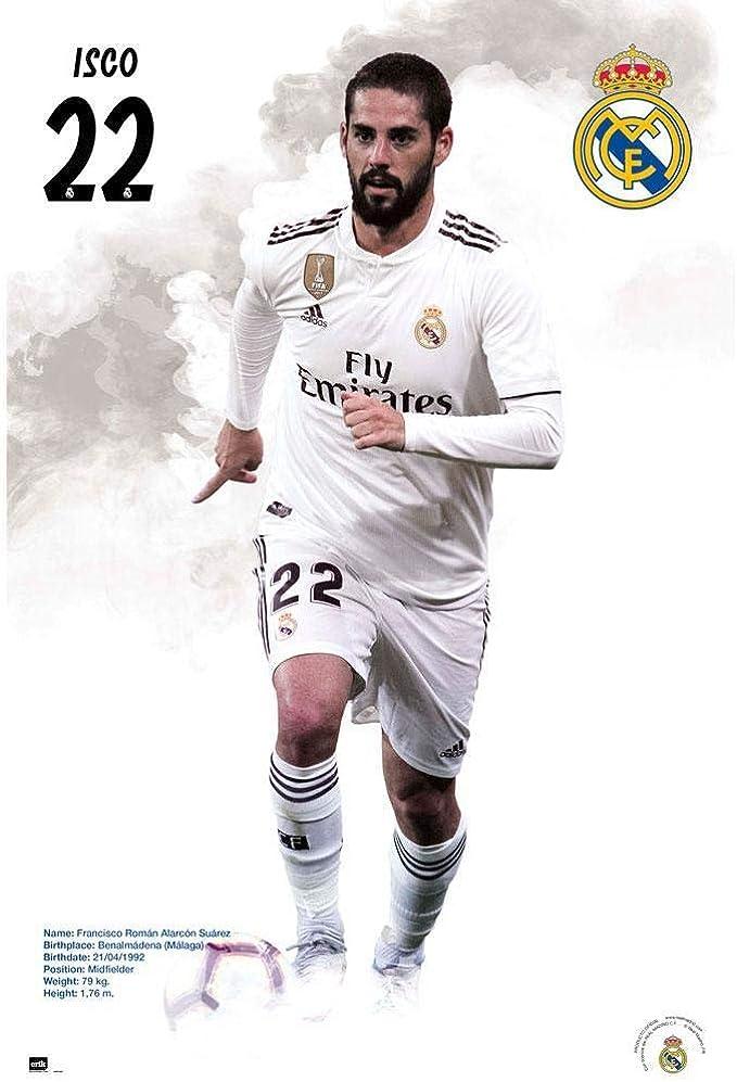 Real Madrid CF - Póster de Isco (Talla Única) (Blanco): Amazon.es: Ropa y accesorios