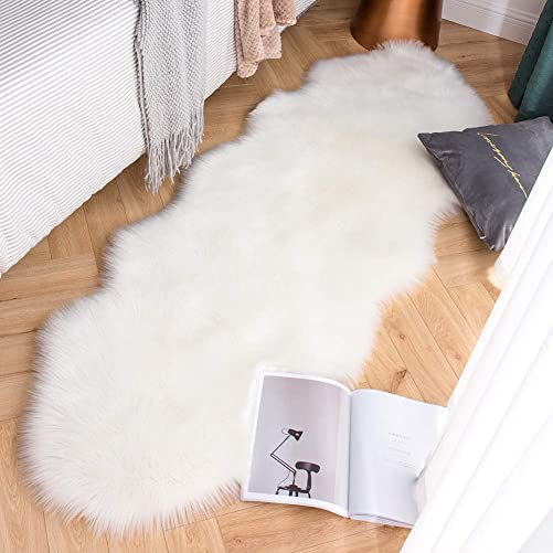 Carvapet Luxury Soft Faux Sheepskin Couch Seat Cushion Fake Fur Area Rug