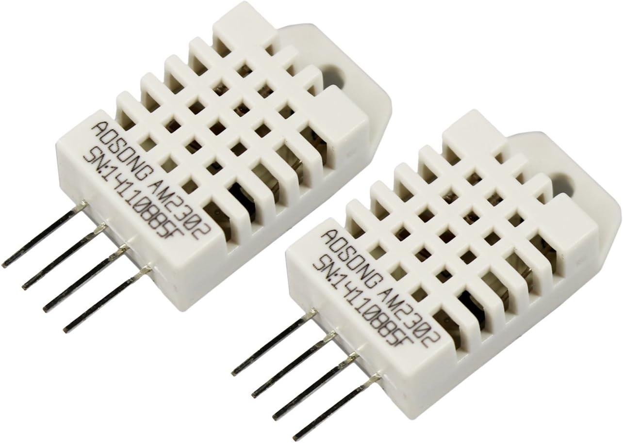 DHT11-2 Piezas com-four/® Sensor Digital de Humedad y Temperatura 2X DHT11 Sensor para Raspberry y Arduino