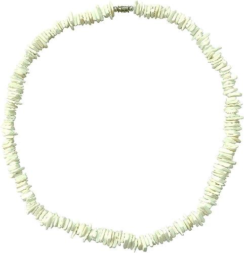New Retro White Hawaiian Surfer Puka Shell Necklace