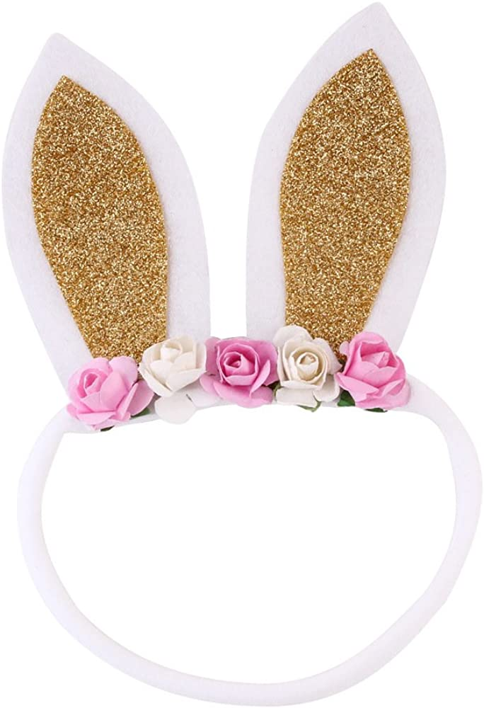 Pink and gold banny Bunny ears Baby headband Headband Bunny headband First birthday Baby birthday Baby accessories