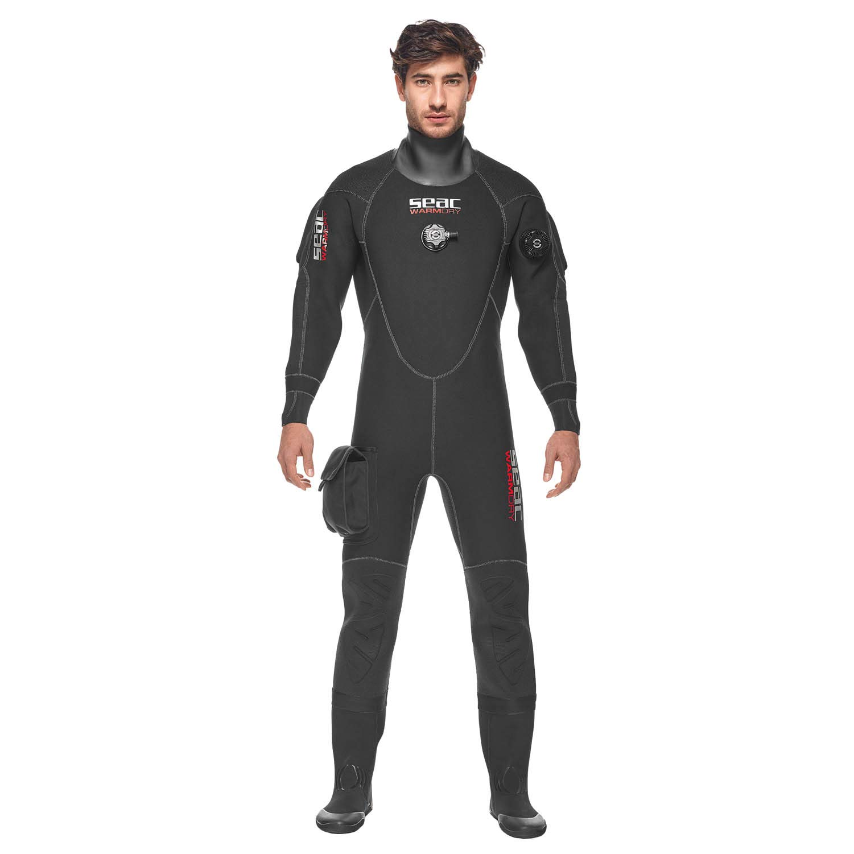 SEAC Warmdry Man Drysuit Large Plus, Black
