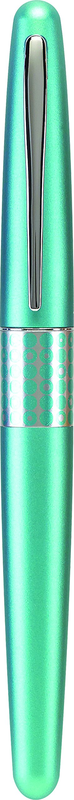 Pilot MR Retro Pop Collection Fountain Pen, Turquoise Barrel with Dots Accent, Fine Nib, Black Ink (91436) by Pilot (Image #3)