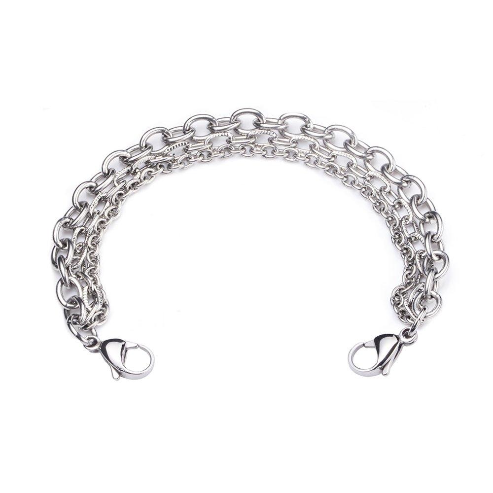 linnalove- Stainless Steel Interchangeable Bracelet to Medical Alert for Women and Men