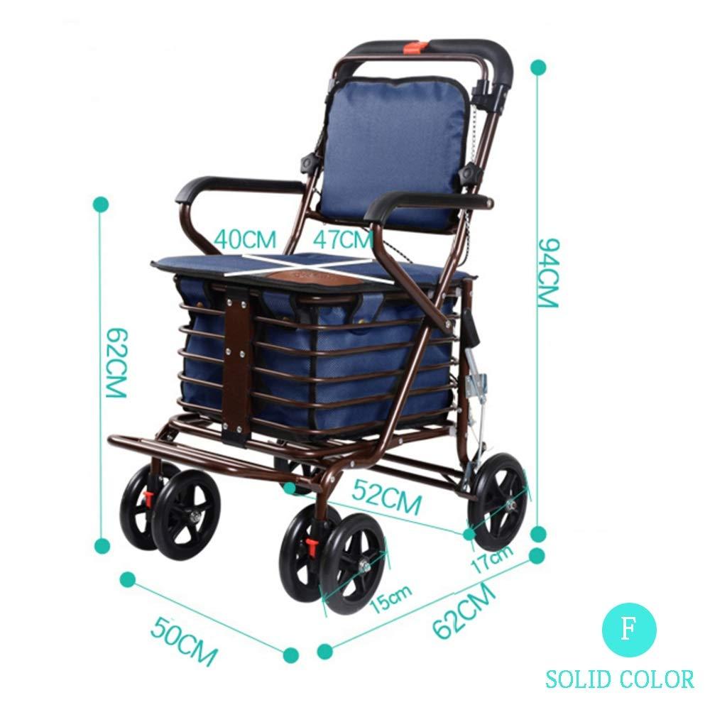 Carrito de compras de cuatro ruedas para personas mayores ...