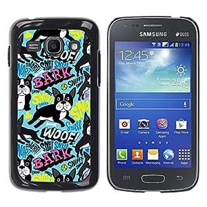 Be Good Phone Accessory // Dura Cáscara cubierta Protectora Caso Carcasa Funda de Protección para Samsung Galaxy Ace 3 GT-S7270 GT-S7275 GT-S7272 // French Bulldog Wallpaper Dog Smal