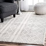 nuLOOM Grey Sarina Diamonds Rug, 5 Feet by 7 Feet 5 Inches