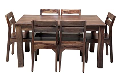 b28862abd48 Image Unavailable. Image not available for. Colour  Induscraft 6 Seater sheesham  Dining Table