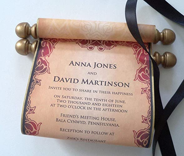 amazon com wedding invitation paper scrolls with wooden finials