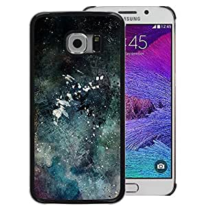 Planetar® ( Modern Art Color Splash Watercolor ) Samsung Galaxy S6 EDGE Hard Printing Protective Cover Protector Sleeve Shell Cover Case