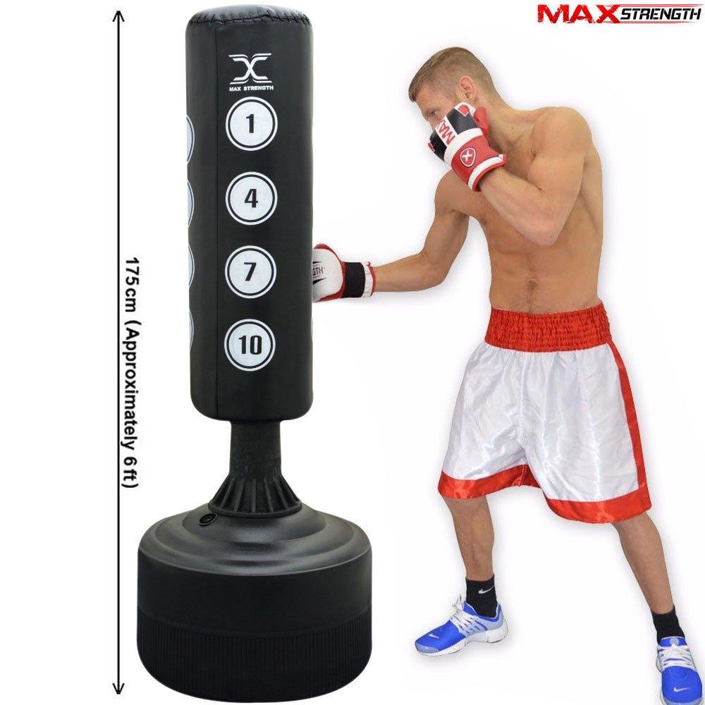 attrezzatura pesante per boxe sacco da boxe da terra Maxstrenght/® sacco da pugilato arti marziali kickboxing da 182,88 cm