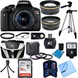 Canon EOS Rebel T6i Digital SLR Camera w/EF-S 18-55mm IS STM Lens Bundle w/18-55mm Lens, 32GB Memory Card, Gadget Bag, Mini Tripod, Full Size Tripod, Filter Kit, Card Reader and Much More!
