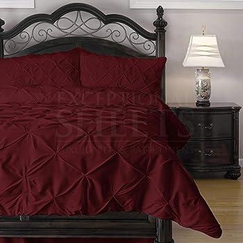 Amazon Com Exceptionalsheets Queen Size Comforter Set 3 Piece Down Alternative Comforters Decorative Pinch Pleat Pintuck Design Wrinkle