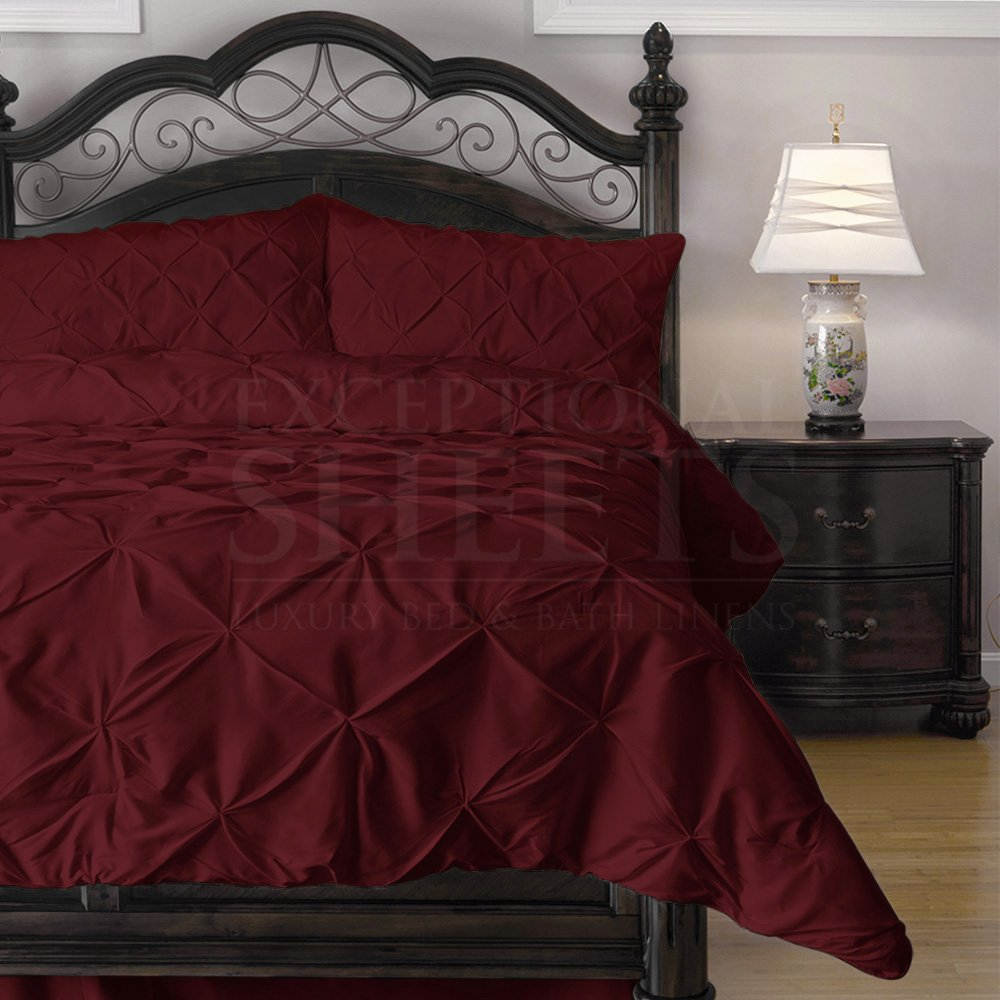 Fresh Burgundy & Black Bedding Sets Sale – Ease Bedding with Style TI78