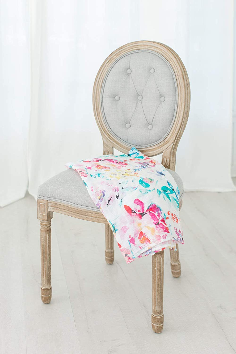 Bamboo /& Cotton Floral Swaddle Blanket Perfect Newborn Baby Gift Large 47 x 47 Receiving Blanket