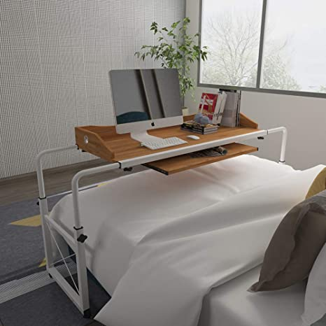 Stupendous Huisenus Mobile Height Adjustable Overbed Table Laptop Table Cart With Wheel Computer Desk Rolling Table For Medical Hospital Home Use Workstation Download Free Architecture Designs Lukepmadebymaigaardcom
