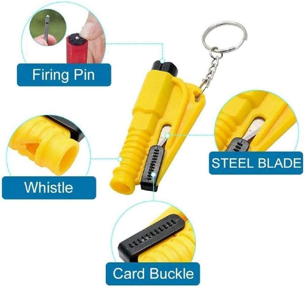 porte-cl/és coupe-ceinture de s/écurit/é pour brise-vitres outil d/évacuation de marteau compact de s/écurit/é de voiture portable 3Pcs Porte-cl/és 3 en 1 pour la vie de la voiture