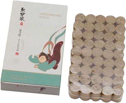 Sharplace 45 Piezas Caja Palos de Moxa Sin Humo para Moxibustión/Rollos de Moxa Envasados de Jengibre: Amazon.es: Salud y cuidado personal