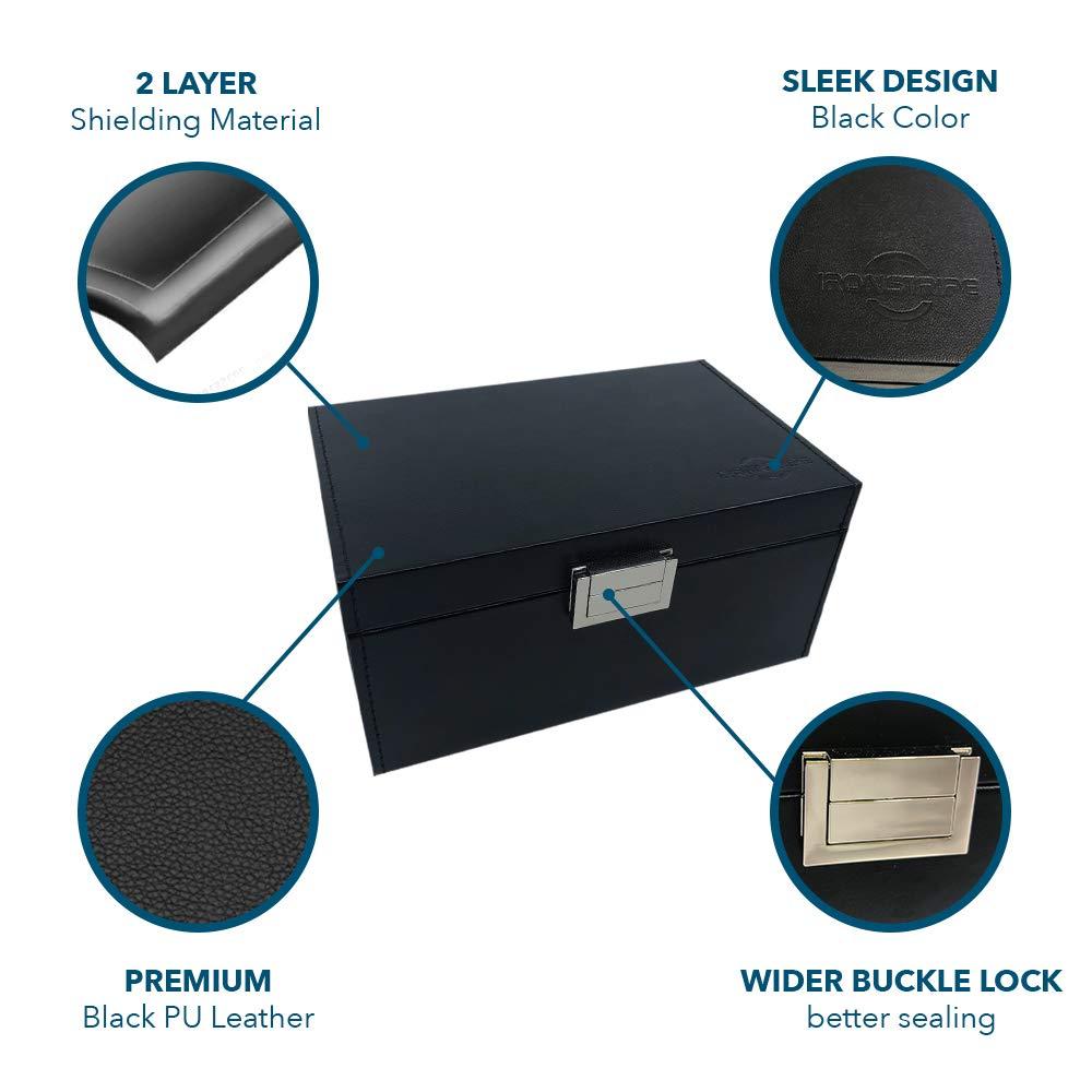 Plus Faraday Pouch for Car Keys Anti-theft Faraday Cage for Car Security Ironstripe Car Key Signal Blocker RFID Faraday Bag Large Faraday Box for Car Keys Keyless Car Key Signal Blocker Box