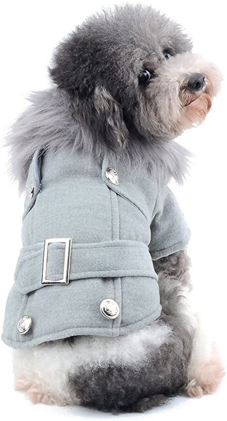 Ranphy Abrigo de lana para perros y gatos de estilo occidental para invierno, para clima frío, de piel sintética, abrigos para perro, sudadera Shih ...