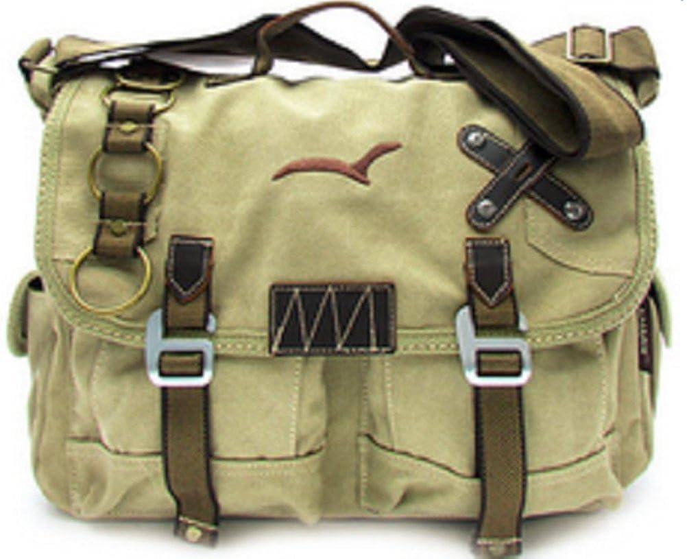8490a483a7 Amazon.com  Cross Shoulder Canvas Messenger Bag Vintage Travell Well Bags -  Khaki Tan  Shoes