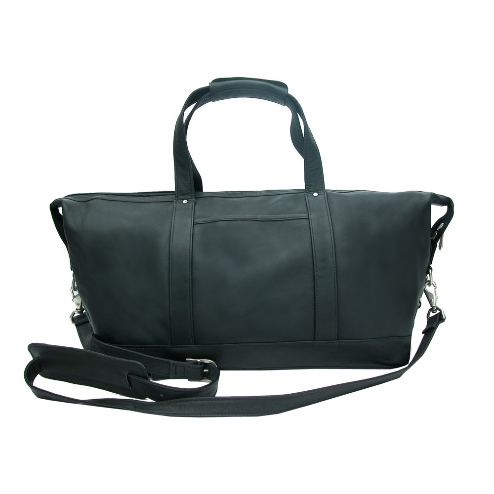 Piel Leather Medium Carry-On Satchel, Black, One Size