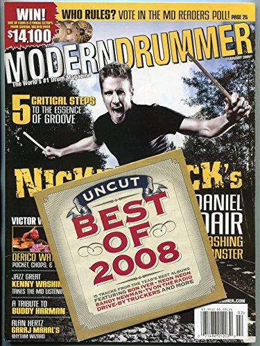 Modern Drummer Magazine February 2009- Daniel Adair- Derico Watson- Alan Hertz