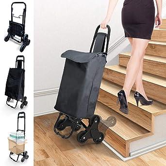 Carro Compra Plegables 6 Ruedas, Carrito Compra Subir Escaleras, Cada Lado 3 Ruedas, Impermeable 35L