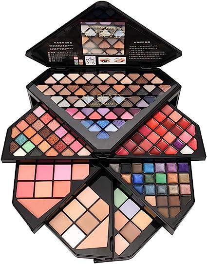 MWJK® Sombras de Ojos Kit, 153 colores paleta de sombra de ojos Profesional eyeshadow palette Paleta de Maquillaje Cosmética con Color Cálido y Frío Maquillaje Set Maquillaje Profesional Caja: Amazon.es: Belleza