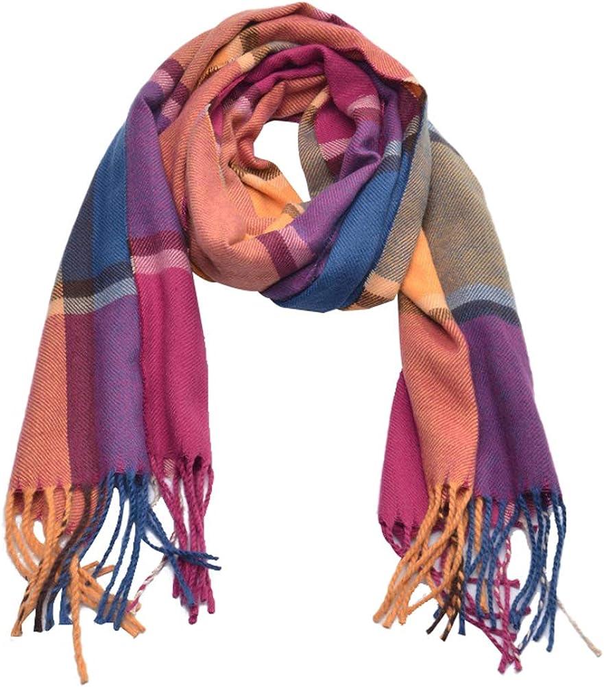 jemous Kids Scarf Plaid Scarf Soft Knit Large Scarf Warm Shawls Scarves  Parent-Child Scarf Fashion Winter Warm Wraps Tassel Scarfs for Winter Child  Boy Girl Gift: Amazon.co.uk: Jewellery