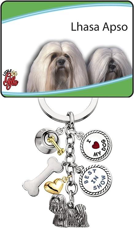 Shih Tzu Dog Breed Heart Love Metal Keychain Key Chain Ring