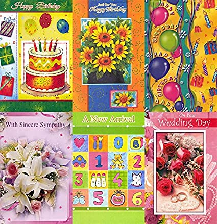 Amazon 300 Assorted Birthday Greeting Cards For Business Or Personal Use Only 33 Cents Each Office Products