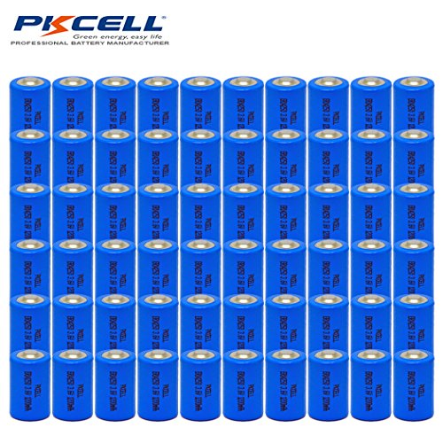 60pcx ER14250 1/2AA Size Lithium Batteries (3.6V & 1200 mAh) by PK Cell