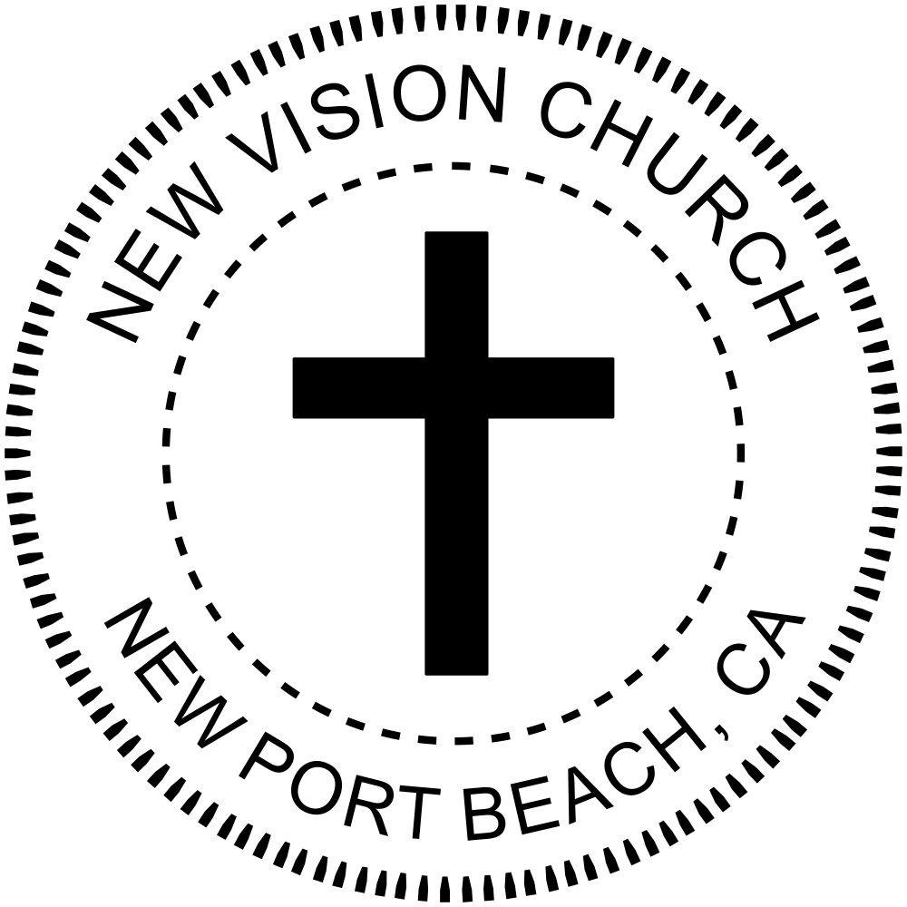 Religious Cross Embosser - Church Embosser - Custom Embosser for Church by Holmes Stamp & Sign