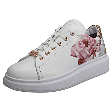 b19c3dc45 Amazon.com: Ted Baker Ailbe 2 Womens Sneakers White: Clothing
