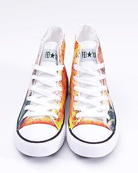 My Hero Academia Shoto Todoroki Cosplay Chaussures en toile Chaussures Baskets Blanc//Noir