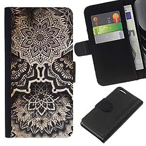 KLONGSHOP // Tirón de la caja Cartera de cuero con ranuras para tarjetas - Vintage Ink Tattoo Tribal Nativo - Apple Iphone 5C //