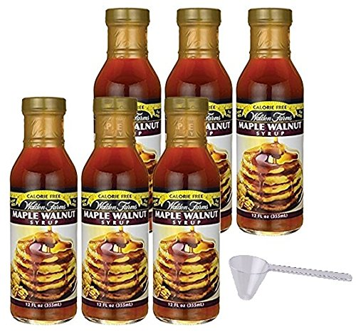 Maple Walnut (Walden Farms Maple Walnut Syrup 6 Pack With Scoop)
