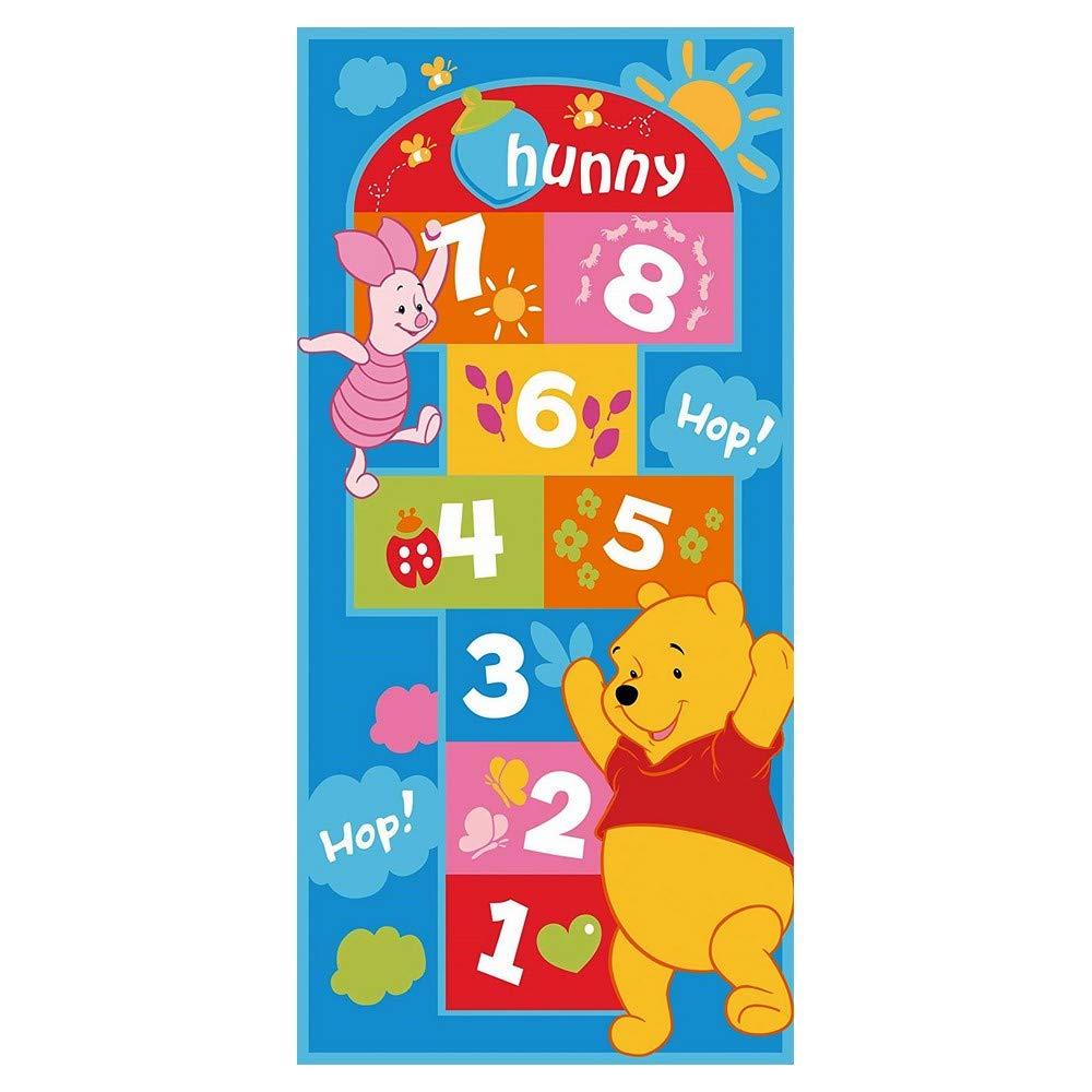 GUIZMAX Tapis Enfant Marelle Winnie lourson 140 x 67 cm Disney