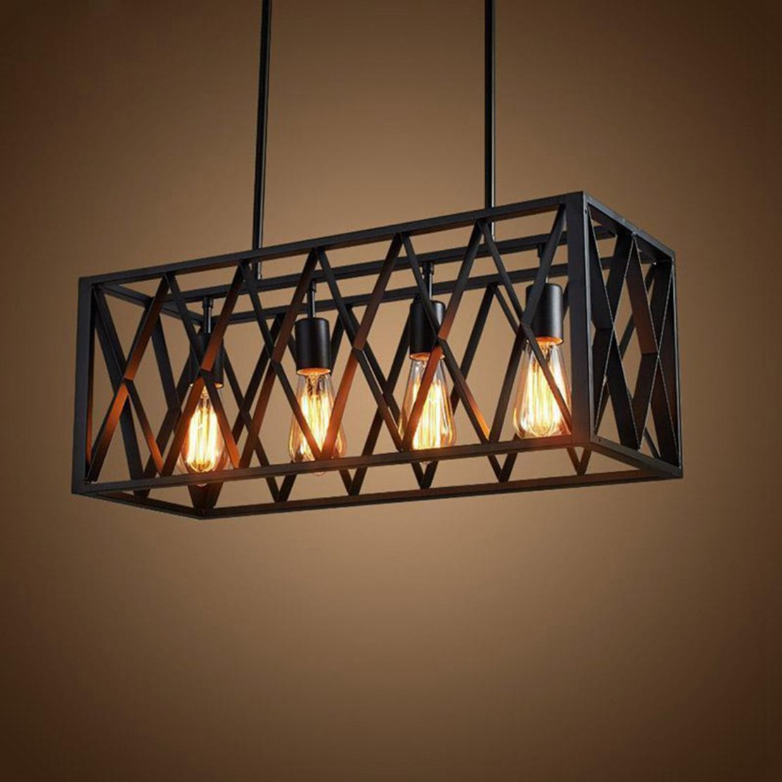 Vintage Industrial Iluminación colgante para cocina isla país de ...